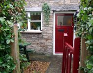 Entrance To Stable Cottage, St Thomas Street, Wells, Somerset